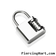 "316L Stainless Steel ""Lock"" Pendant"