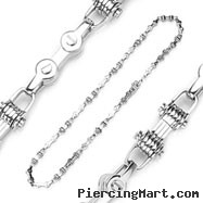 316L Stainless Steel Bicycle Chain Style Multi Link Necklace