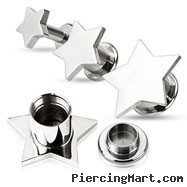 Pair Of Steel Screw-Fit Tunnels with Star