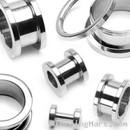 Pair Of Large Gauge Tunnels with Threaded Back