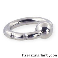 Fancy 2 notch captive bead ring, 8 ga