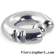 Fancy 2 notch captive bead ring, 0 ga