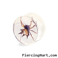 Pair Of Spider Inlay Polyresin Saddle Plugs