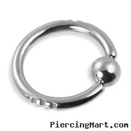 10 gauge sliced captive bead ring