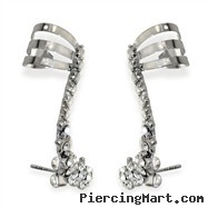 Set of Gem Ear Cuff