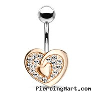 Navel Ring With Heart