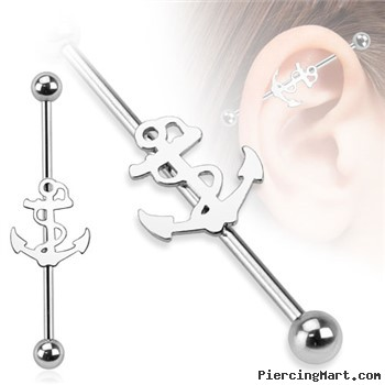 Surgical Steel Anchor Industrial Barbell