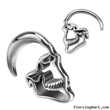 Pair Of Stainless Steel Skull Taper